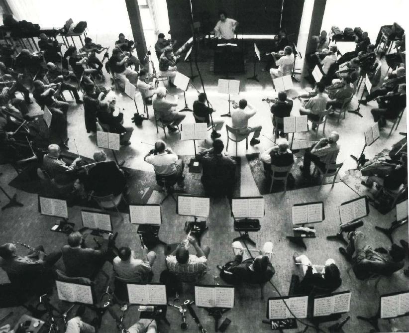 l'orchestra in sala prove